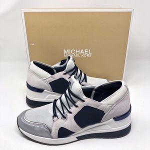 Michael Kors | Optic Trainer Blue White Leather